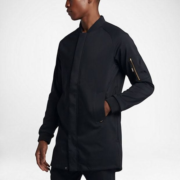 deft design promo code hot-selling authentic Nike F.C Black Gold Parka Trench Coat Jacket - NWT NWT